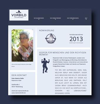 """Nominiert für den """"Vorbildunternehmer des Monats Oktober 2013"""""""
