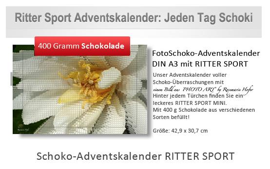 """Bilder aus der """"EDITION – PHOTO ART° by Rosemarie Hofer"""" als Ritter Sport Adventskalender"""
