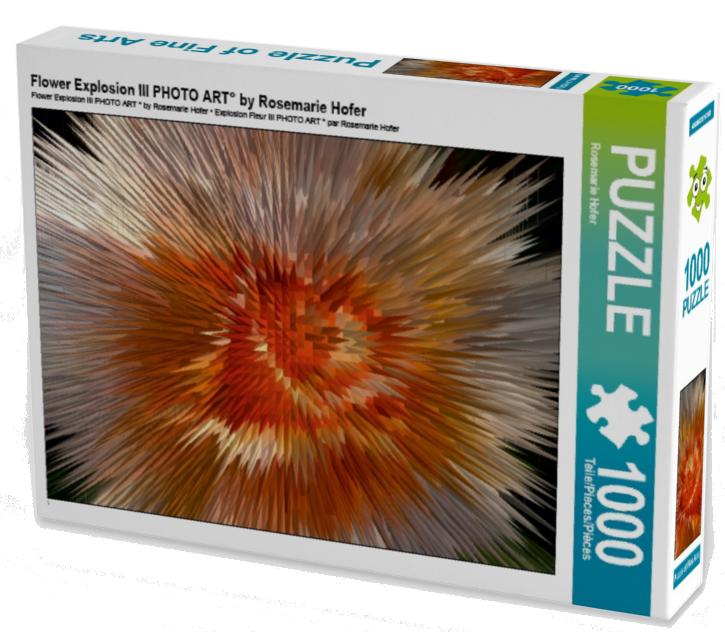 Flower Explosion III PHOTO ART° by Rosemarie Hofer 1000 Teile Puzzle hoch  •Author: Rosemarie Hofer • 1000 Teile Highend Puzzle •Für Kinder ab 14 geeignet Made in EU  ASINB01LF182I4
