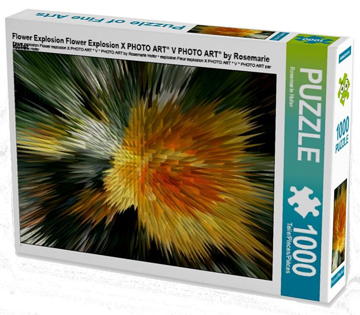 Flower Explosion Flower Explosion X PHOTO ART° V PHOTO ART° by Rosemarie Hofer 1000 Teile Puzzle hoch  •Author: Rosemarie Hofer • 1000 Teile Highend Puzzle •Für Kinder ab 14 geeignet Made in EU  ASINB01LF18AHM